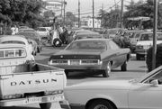 In line for gas in 1979. Ah, the good old days.